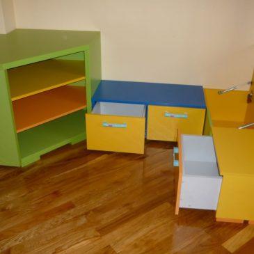 4 primeri izdelanega pohištva za otroške sobe