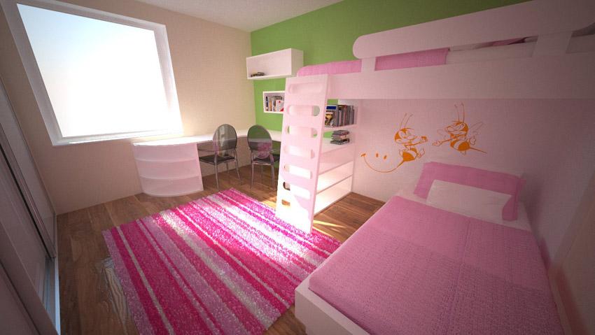 opremljanje otroške sobe za dva otroka