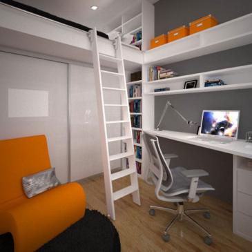 Primer 3d izrisa predloga opreme mladinske sobe