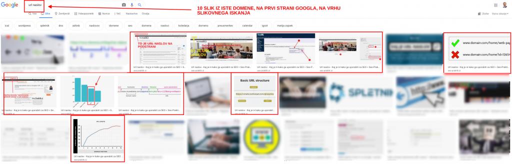 Google optimizacija slik seo-praktik